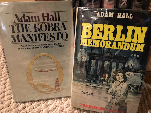 Adam Hall Spy Books from Jeff's collecton
