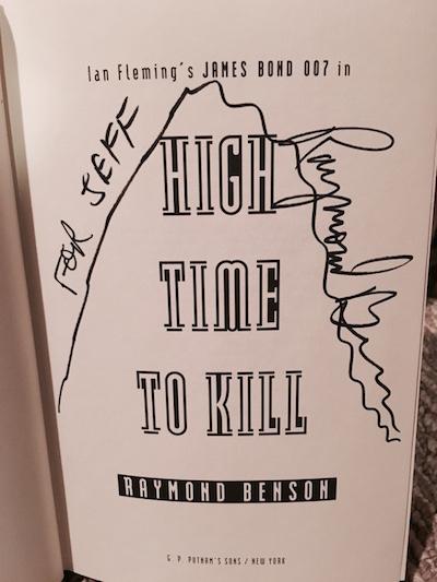 Autographed Raymond Benson James Bond book