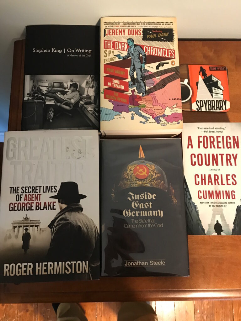 Spybrary August reading list