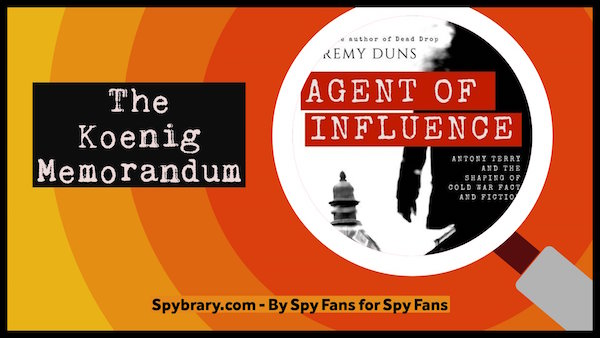 John Koenig reviews Jeremy Dun's Agent of Influence