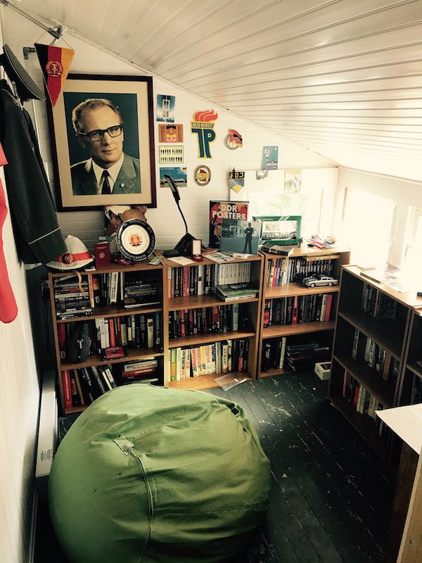 Spybrary Host Shane Whaley's GDR collection in his den affectionately known as 'East Berlin'