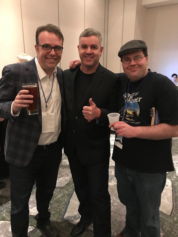 Spybrarians at Spy Con. Shane Whaley, Michael Brady, Matthew Kresal.