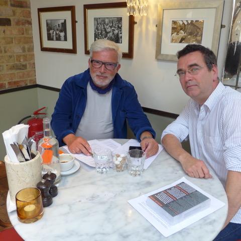 Author Mick Herron meets Spybrary Spy Podcast's Man in the UK - David Craggs